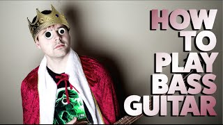 How to play bass guitar (for beginners)