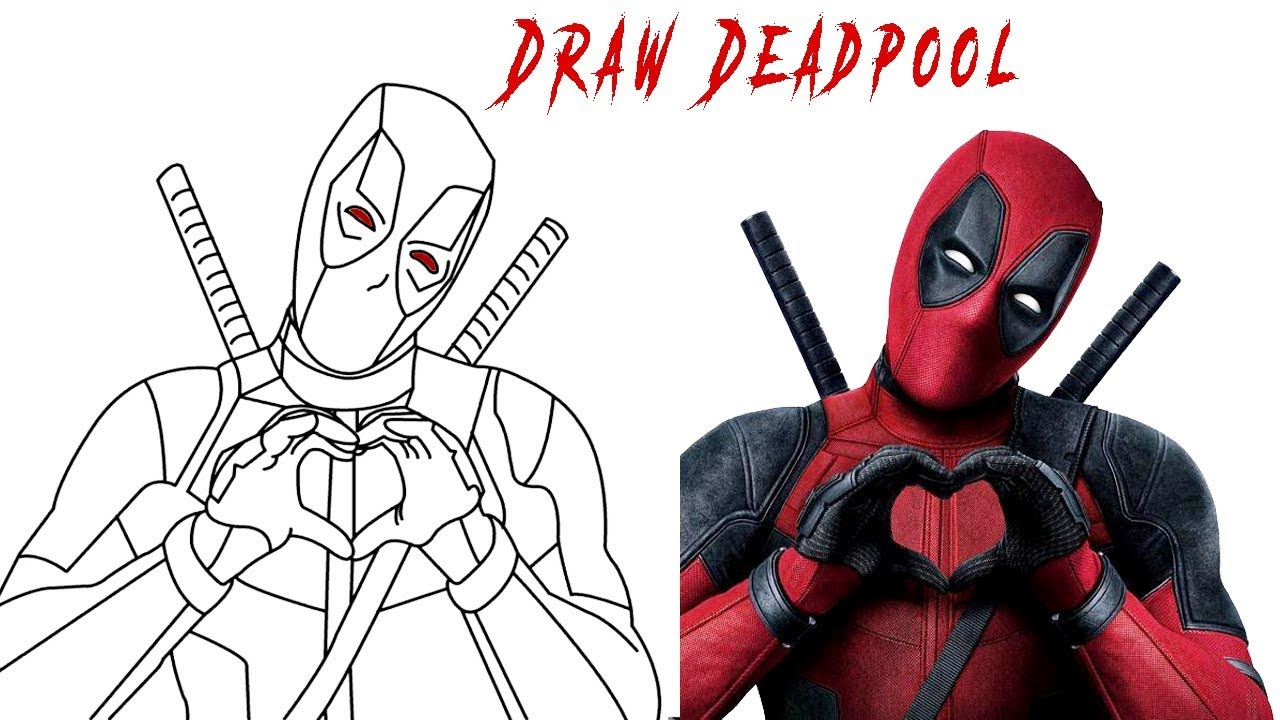 How to Draw Deadpool 11 - Deadpool 11 Coloring pages - YouTube