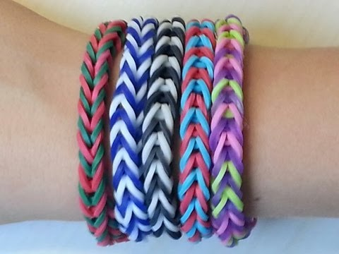Rainbow Loom Fishtail Bracelet By Hand Easy Youtube
