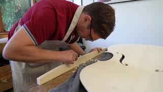 workshop: making a martin concert 4/4 double bass ep 4, fitting the bass bar