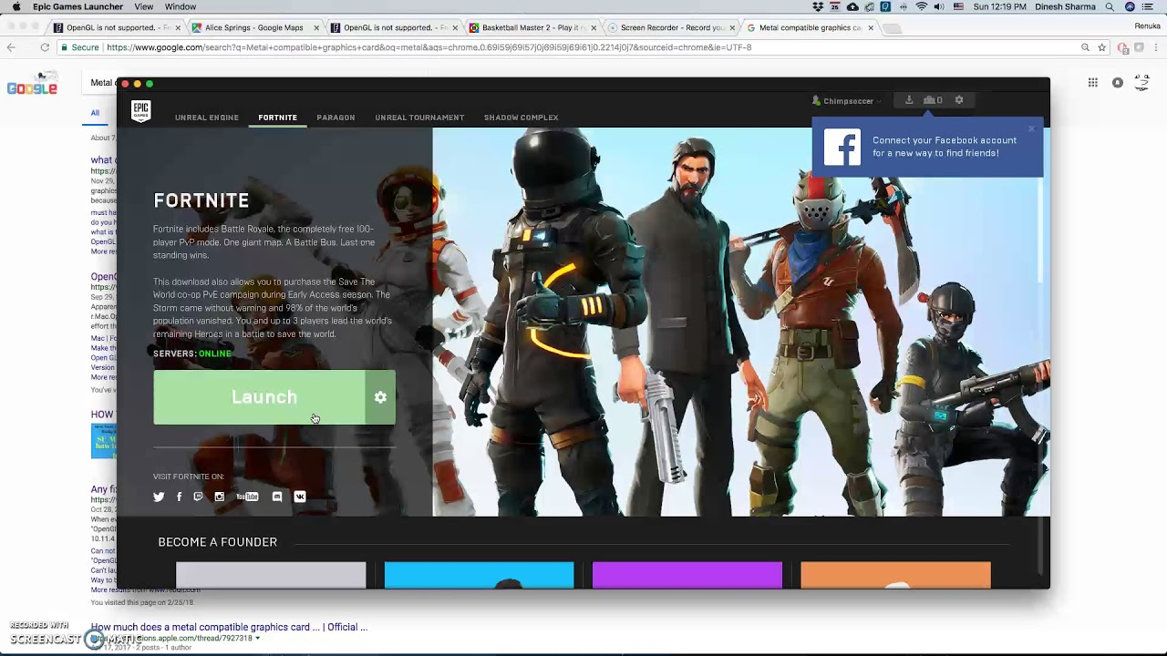 Fortnite not working on Mac! Please Help!