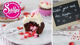 Valentinstags Cupcakes mit Überraschung / Inside Surprise Cupcakes