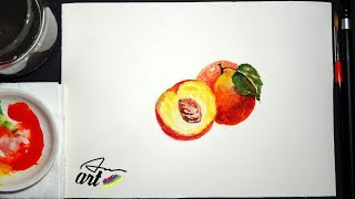 Gambar cover How To Paint a Peach in Watercolor