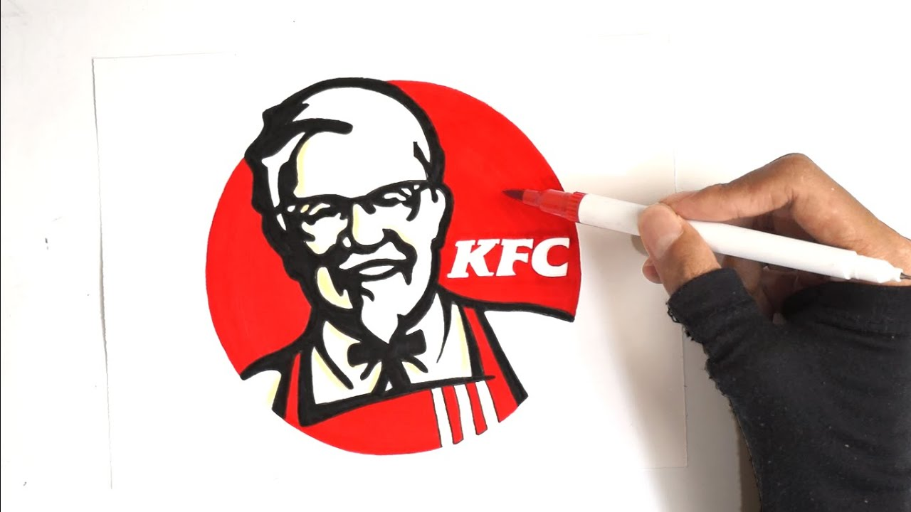 How To Draw The KFC Logo