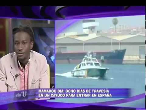 Mamadou Dia, activista senegales, debate sobre inmigración y 3052 en V.television