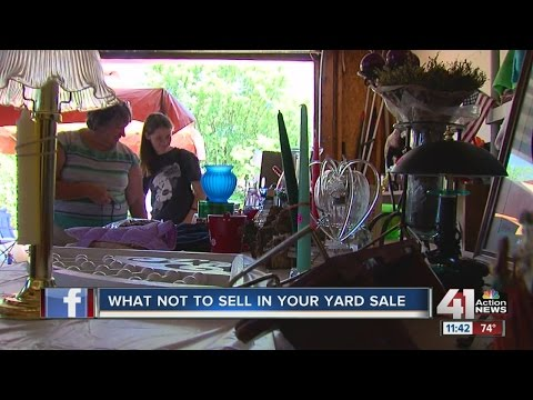 What not to sell in your yard sale