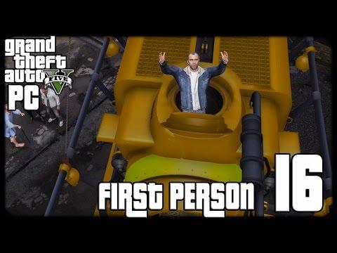 GTA V PC First Person 1080p60 w/Facecam WT #16 - تختيم حرامي السيارات الخامس - السفينة