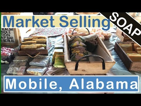 Selling Hand Made Soap At The Mobile Flea Market In Mobile, Alabama