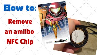 how to easily remove an amiibo nfc chip without visibly destroying the base nintendo custom diy