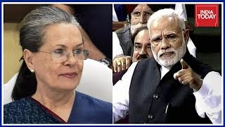 Sonia Gandhi Reacts To PM's Ferocious Showing In The Lok Sabha
