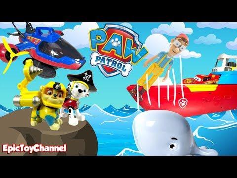 Paw Patrol Nickelodeon Sea Patrol & Pirate Pups + NEW Pirate Patroller Sea Patroller and Disney Cars
