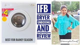 Must Have For Your Home| IFB 5.5 kg Dryer Turbo Dry Review/IFB Dryer Unboxing | Unboxing the Trendz