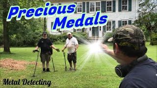 Precious Medals - Metal Detecting an 1890's Barber Shop For Silver, Old Coins, & ALL the Marbles!