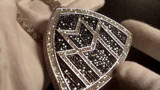 Custom Diamond Rick Ross Maybach Music Piece Teflon Don Pendant Lab Jewelry Connect Cluster Chain