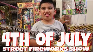 4th of July 2018 Fireworks show on our street ok4kidstv video 158
