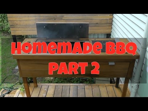 BBQ MADE OF WOOD!!! DIY Wood/Charcoal Barbecue Part 2: Completion