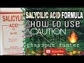 Salicylic acid formula in coconut oil