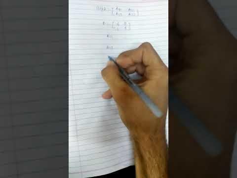 How to find adjA of 2×2 matrix