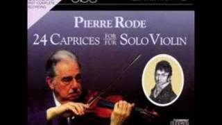 Shumsky plays Rode Caprices 1 - 3