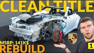 Rebuild Clean Title 2015 Porsche 911 4S. Bought from Copart Salvage auction. Project Race Car.