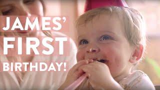 James' First Birthday Cake