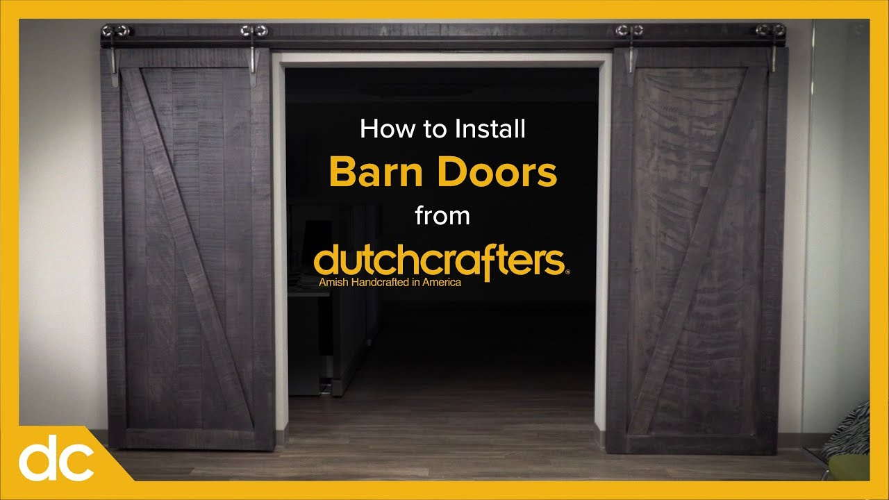 how to install interior sliding barn doors youtube. Black Bedroom Furniture Sets. Home Design Ideas