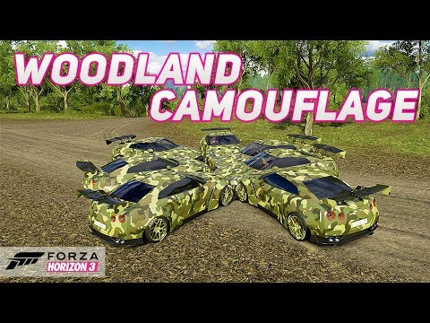 Forza Horizon 3 - Woodland Camouflage Infected! (Mini games fun)