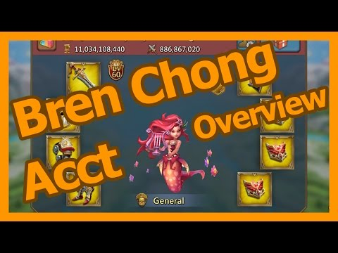 Account Overview - Bren Chong - Lords Mobile
