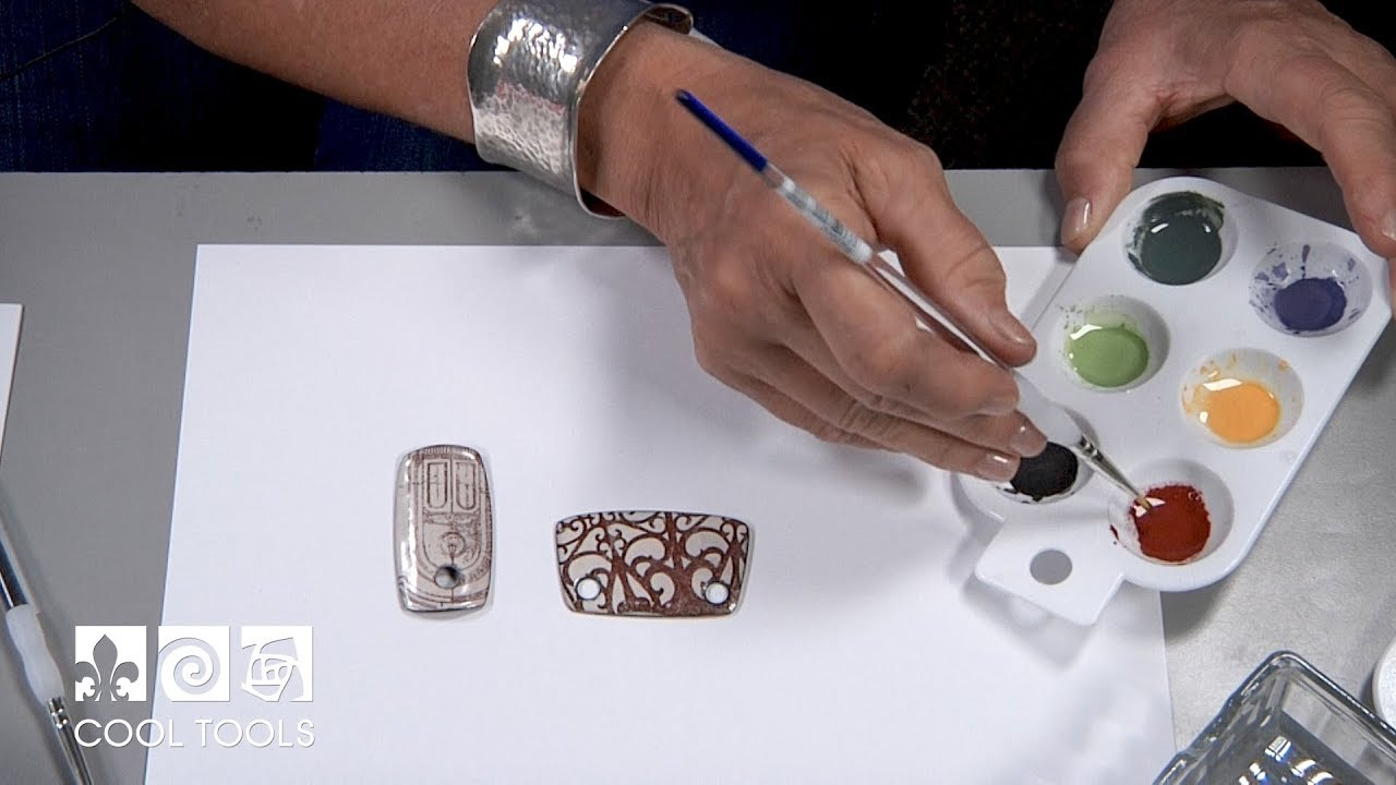 Cool Tools | Painting with Ferro® Sunshine Enamels by Jan Harrell
