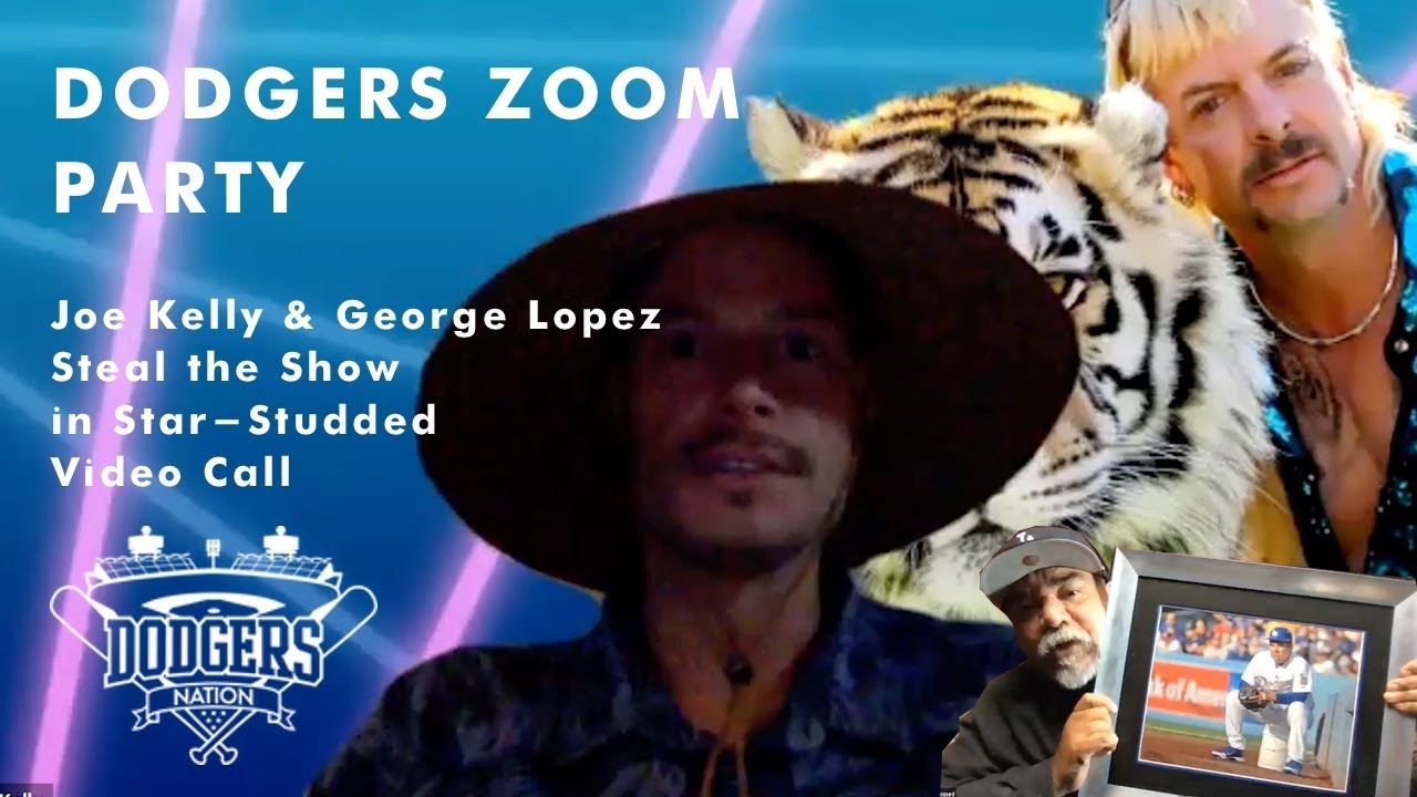 Los Angeles Dodgers Zoom Party Joe Kelly George Lopez Steal Show To 11 000 Fans Youtube