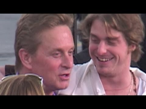 MICHAEL DOUGLAS joins his parents and son Cameron at 'It Runs in the Family' premiere