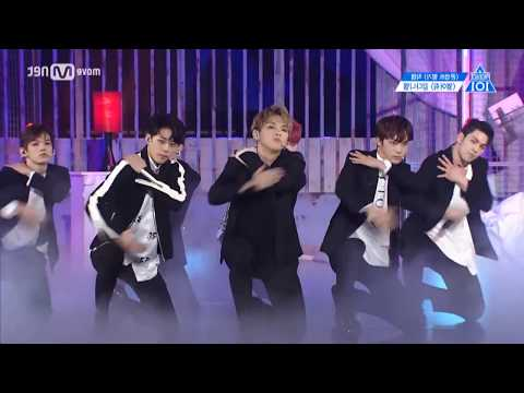PRODUCE 101 season2 - Open up [ Focus Kang Daniel - Mirror dance ]