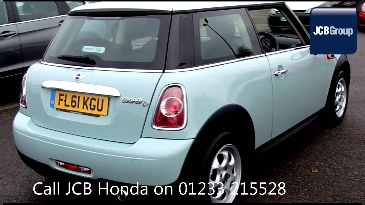 2011 Mini Hatch Cooper D 16l Fl61kgu Manual Diesel 3 Doors 3 Door
