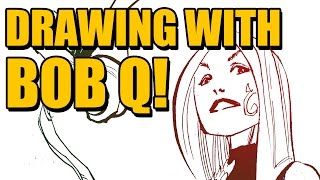 DRAWING WITH BOB Q! - Poison Ivy Standing Around