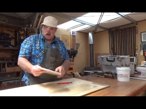 Antique Furniture Restoration How to Cut glass and do Lead l