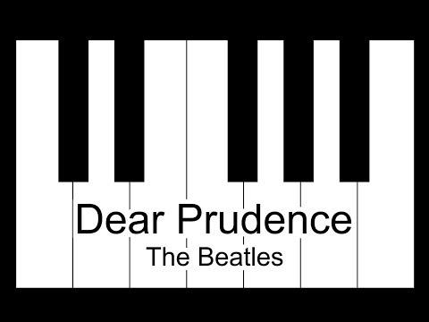 Dear Prudence - The Beatles Piano Tutorial