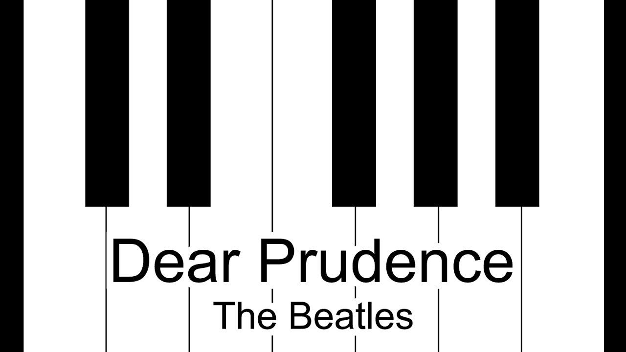 Dear Prudence   The Beatles Piano Tutorial
