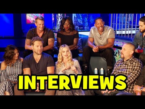 SUICIDE SQUAD Cast Interviews - Margot Robbie, Cara Delevingne, Jared Leto, Will Smith