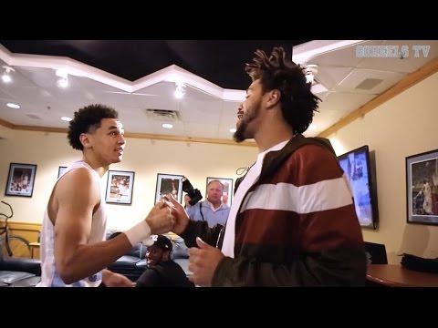 Unc mens basketball coach williams team meet j cole after unc mens basketball coach williams team meet j cole after maryland win m4hsunfo