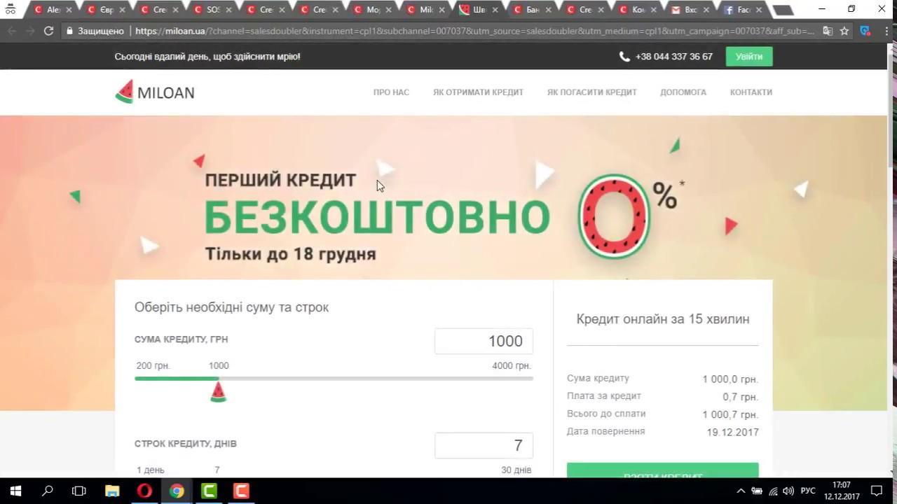 Кредит на карту ночью украина