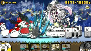 The Battle Cats! Jolly St. Nick - War on Xmas 2-star (7000+ Score)