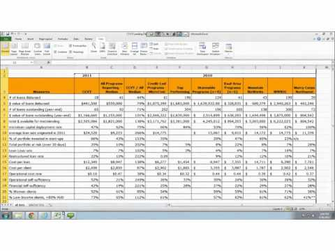 Prime Microtrackers Lending Performance Benchmarking