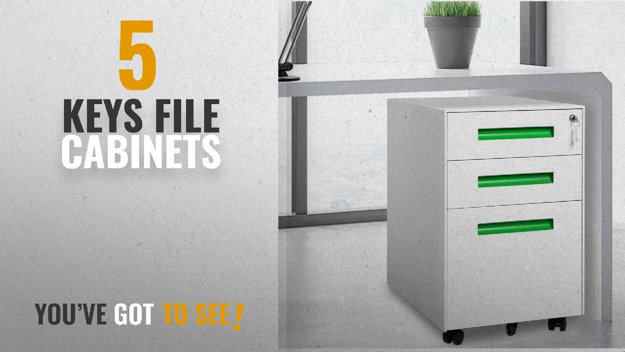 Top 10 Keys File Cabinets [2018]: Modern Luxe 3 Drawer Mobile File Cabinet  Metal Vertical File