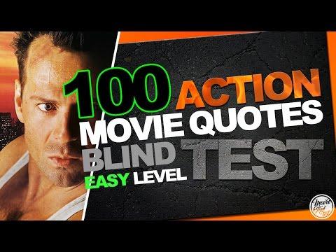 BEST 100 ACTION MOVIE QUOTES BLIND TEST (Biggest Easy Film Quiz)