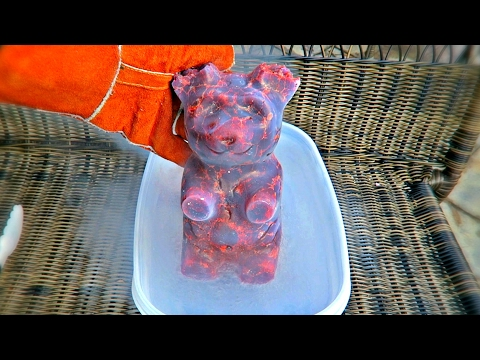 Thumbnail: 5lb Gummy Bear into Liquid Nitrogen