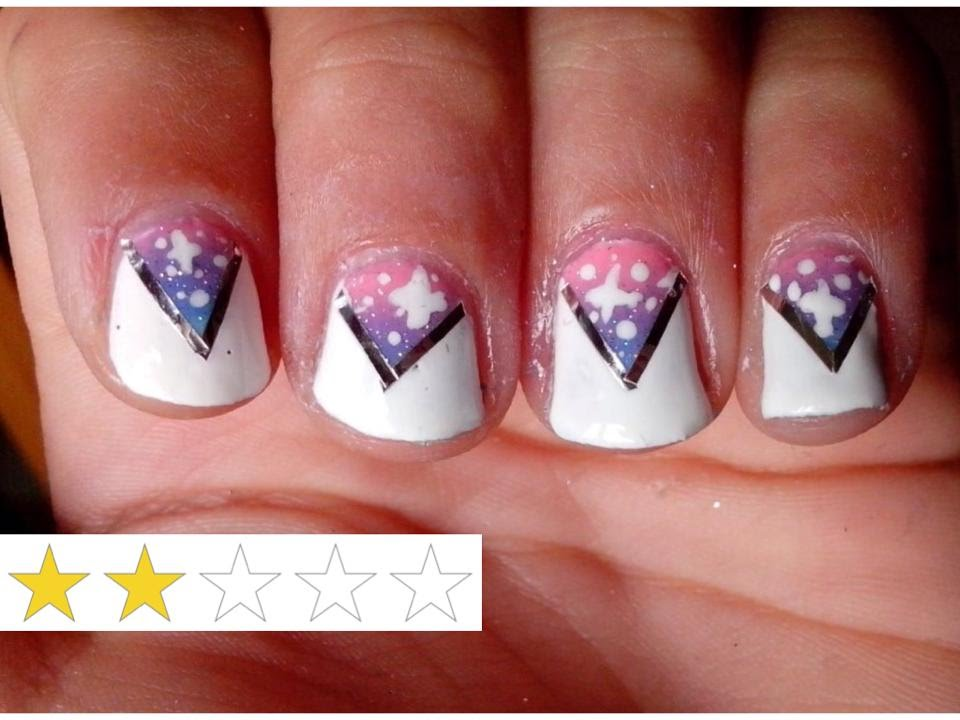 nail art facile ongles courts triangle et galaxie youtube. Black Bedroom Furniture Sets. Home Design Ideas