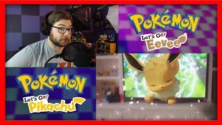 Pokemon Let's Go Pikachu and Eevee LIVE REACTION!
