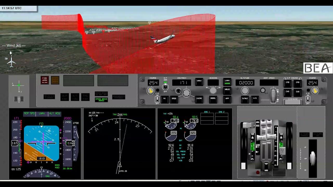Download Animation / Incident grave du Boeing 737 7T-VJM Air Algérie survenu le 06/12/2019 à Orly