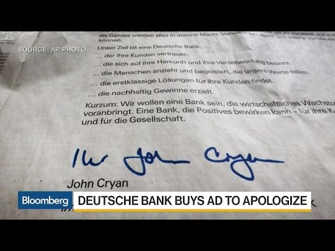 Deutsche Bank Ads Apologize for 'Serious Errors'