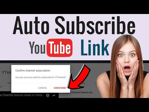 How to Make Subscribe link for Youtube Channel [Hindi]
